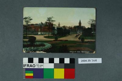 Postcard: Whitworth Park, Manchester