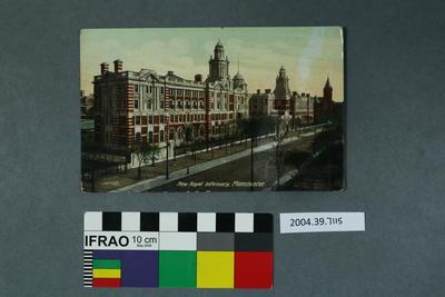Postcard: New Royal Infirmary, Manchester