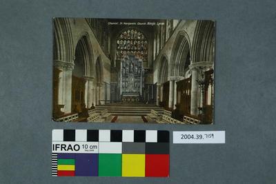 Postcard: Chancel, St Margarets Church, King's Lynn