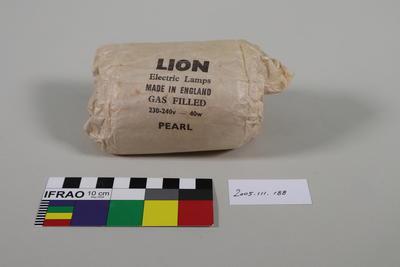 Light Bulb Packaging: Lion