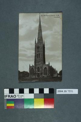 Postcard: St. Wulfram's Church, S.W., Grantham