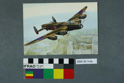 Postcard of a Lancaster AA-O N.D. 752