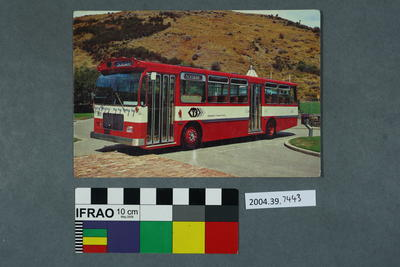 Postcard of the Christchurch Transport Board Bus No 600