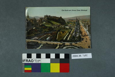 Postcard: The Castle and Princes Street
