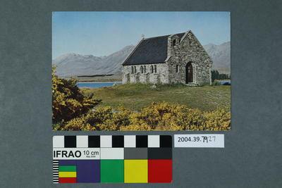 Postcard: Brick building