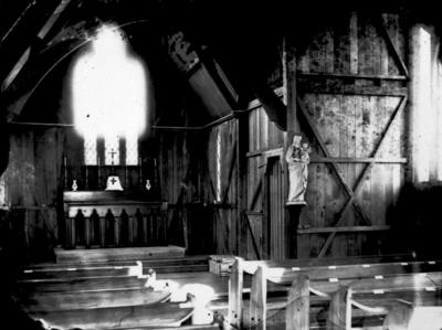 Mountfort Photograph: Interior of Rangiora Church, 1872