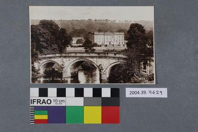 Postcard: Chathsworth House and Bridge