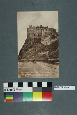 Postcard: Edinburgh Castle from Johnston Terrace