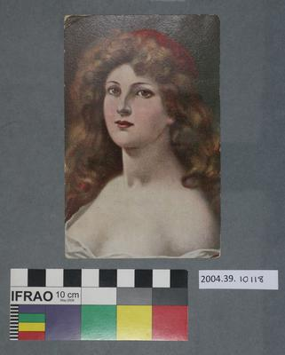 Postcard: Painting of a woman