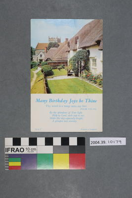 Postcard: Many Birthday Joys be Thine