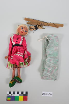 Marionette: Girl with pink dress; ; 2005.111.237
