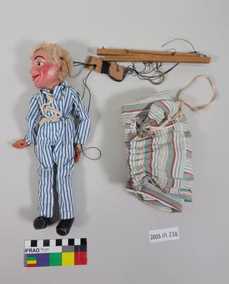 Marionette: Boy wearing blue and white striped clothes