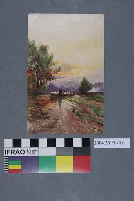 Postcard of a shepherd