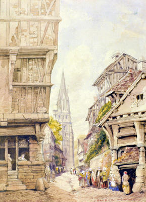 Painting: Bayeux, Normandy