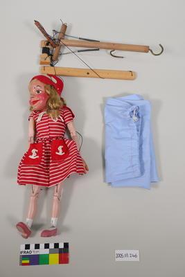 Marionette: Girl in red sailor dress