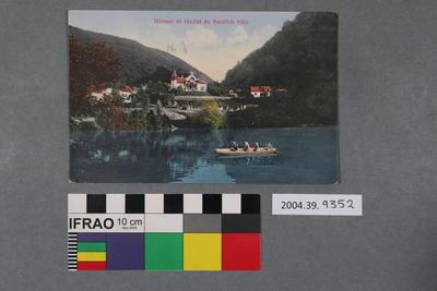 Postcard: Hámori tó részlet és Veidlich villa
