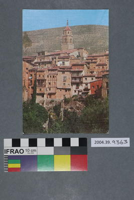 Postcard of red roofed buildings