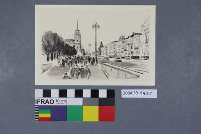 Postcard of a sketch