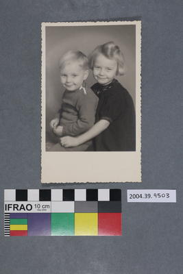 Postcard of two children
