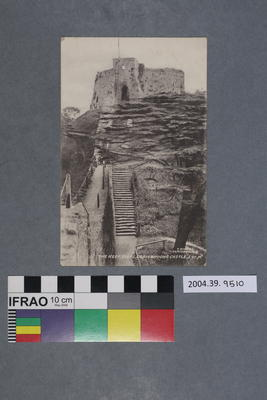 Postcard: The Keep Steps, Carisbrooke Castle