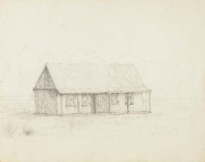 Drawing: Trelissick Hut, Castle Hill