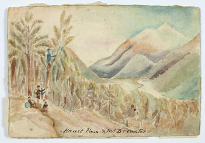 Painting: Haast Pass and Mount Brewster