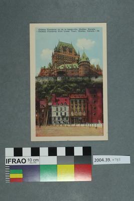 Postcard: Chateau Frontenac vu de la basse-ville, Québec, Canada