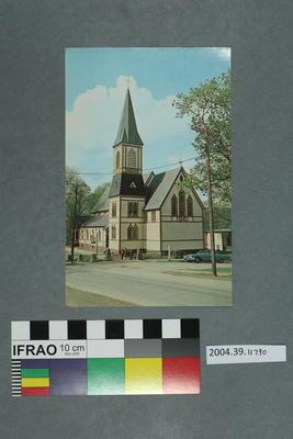 Postcard: Wooden church