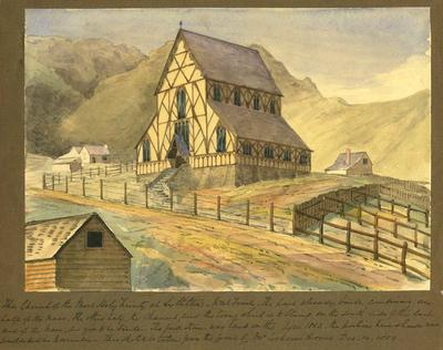 Painting: The Church of the Most Holy Trinity at Lyttelton