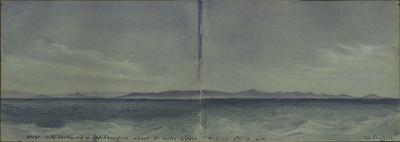Painting: View of the Coast of New Zealand to the Southward of Otago