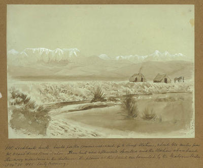 Watercolour: Mr Lockhart's Huts