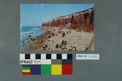 Postcard: Cliffs and rocky beach