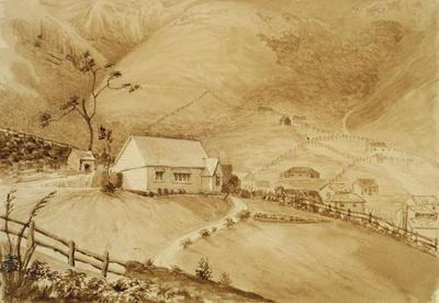 Painting: The Residence of Mr Fitzgerald immediately above Lyttelton