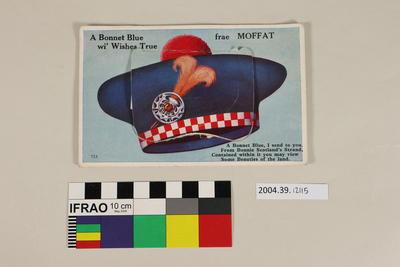 Postcard: A Bonnet Blue wi' Wishes True frae Moffat