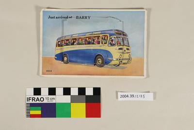 Postcard: Just arrived at Barry