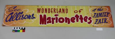 Sign: Wonderland of Marionettes