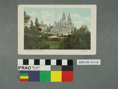 Postcard: Glasgow Art Gallery