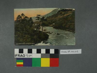 Postcard: Affaric River and Scour-na-Lapich