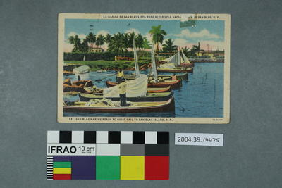 Postcard: San Blas Marine Ready to Hoist Sail to San Blas Island