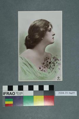 Postcard: Woman in green top