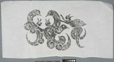 Rubbing: yuren and dragons