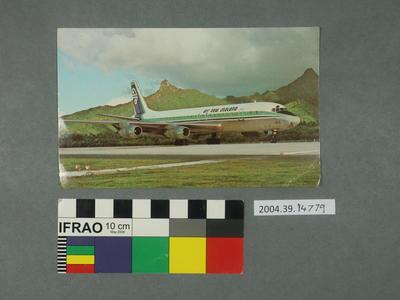 Postcard: Air New Zealand airplane