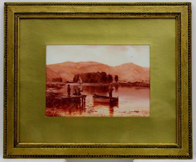 Painting: Fishing Scene, Ferrymead