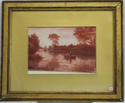 Painting: River Scene, Lower Avon