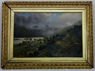 Painting: The Kelley Ranges from Otira Gorge