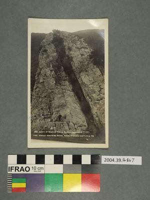 Postcard: Rock cleft