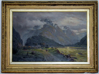Painting: Cobb Coach in the Otira Valley