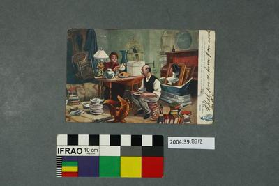 Postcard: Cluttered room