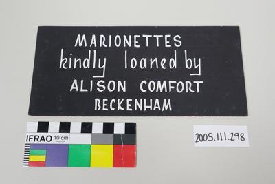 Sign: Merrie Midgets Marionette Theatre