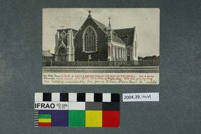 Postcard: St Paul's Presbyterian Church Invercargill
